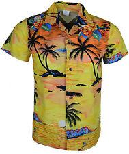 Kids New Hawaiian Shirt Funky Designer Shirt Short Sleeves