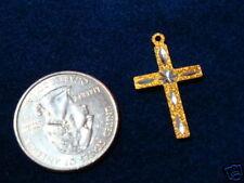 Machine Engraved Cross Pendant (pkg 24) SM Gold 2841