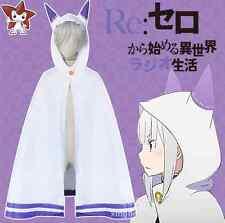 Re:Zero kara Hajimeru Isekai Seikatsu Emilia Cos Cosplay Costume Catgirl Cloak