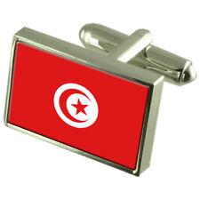 Tunisia Bandiera Gemelli Fermacravatta Bavero Distintivo incisa Gift Set WFC437