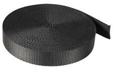 BLACK POLYPROPYLENE PLAIN WEAVE STRAP WEBBING, CHOOSE LENGTH & WIDTH, FREE P&P