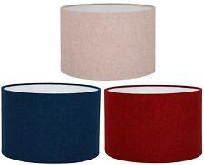 Shetland Brushed  Linen Style Cylinder / Drum Lampshades / Pendant Shade / NEW !