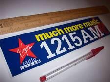 old Sticker DECAL NEW & UN-USED Vintage Chris Evans VIRGIN RADIO Richard Branson
