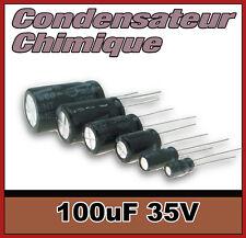 35/100# Condensateur chimique 100µF 35v 10 à 100 pcs 100uF
