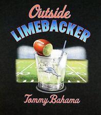 NWT $49 Tommy Bahama Short Sleeve Black Cotton T Shirt Mens Outside Limebacker