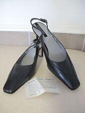 Women's Shoes Peter Kaiser SELENE black slingback leather sz 8.5 Germany NEW