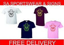 Adultes et enfants de cinq nuits à freddys bear logo Xbox PS3 Tailles XS-XXL T shirt