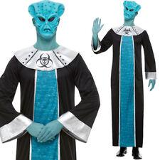 Mens Alien Costume and Mask Fancy Dress