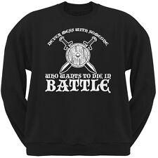 Die In Battle Black Adult Sweatshirt