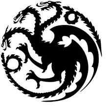 Game of Thrones Dragon Vinyl Decal Sticker Car Window Wall House Targaryen Crest