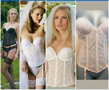 7d99603b1fb Carnival Vintage Corset Bridal Longline Floral Lace Strapless Backless Long  Bra