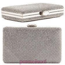 Borsa donna Pochette handbag baguette STRASS clutch tracolla nuova P0037