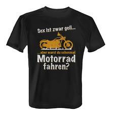Motorrad fahren Herren T-Shirt Spruch Geschenk Idee Biker Motorradfahrer Lustig