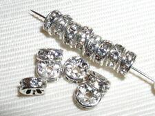 Sale! 100 Swarovski Rondelles 5mm Silver/Crystal (F)
