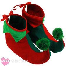 Adulto Elf Botas Pixie Zapatos Navidad Fancy Dress Costume Accesorio GNOME Xmas
