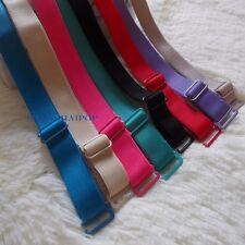 2 Pairs Bra Shoulder Strap Elastic Adjustable Detachable 1.2cm/1.5cm Black/White