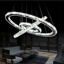 Modern Crystal 3 Rings Circle Ceiling Lamp Chandelier LED Pendant Lighting