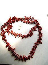 antike Korallenkette Halskette Collier KORALLE rot Astkorallenkette Stabkoralle