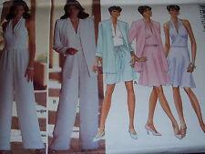 BUTTERICK #4051 - LADIES BEAUTIFUL HALTER TOP-JACKET-SKIRT-SHORTS PATTERN 6-18uc