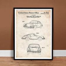PORSCHE 911 CARRERA 1964 PATENT ART PRINT POSTER GIFT 356 996 997 TURBO ORIGINAL