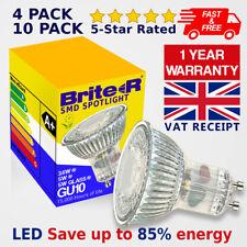 4/10 3W 5W LED GU10 Lamp Bulbs Spotlight Cool Daylight Warm White Full Glass