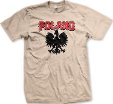 Poland Crowned Eagle Coat Of Arms Emblem National Polish Symbol Mens T-Shirt