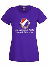 T-shirt Maglietta donna J1730 C'è un Cuore Viola che batte dentro di Me Ultras