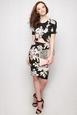 Floral Wrap Top Pencil Skirt Set suit  stretch For Top Shop