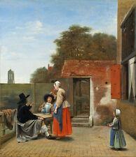 """Pieter de Hooch : """"A Dutch Courtyard"""" (1658/1660) — Giclee Fine Art Print"""