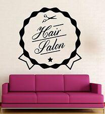 Wall Sticker Vinyl Decal Beauty Sign Hair Salon Haircut Spa (ig2037)