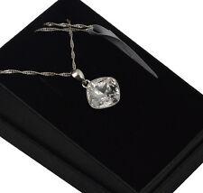 925 Silver Necklace made with Swarovski Crystals *Crystal* Sheena
