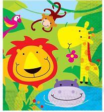 Jungle Theme Napkins Boy Girl Kids Childrens Birthday Party Zoo Gift Tissue Home