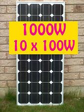 1000W ( 10 x 100W ) Mono Grade A Solar Panel panneau solaire 12V