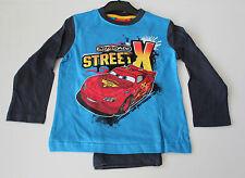 "NEU Nacht Pyjama Set Schlafanzug Jungen Cars ""Street X"" blau 98 104 116 128 #300"
