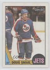 1987-88 O-Pee-Chee Blank Back #181 Doug Smail Winnipeg Jets Hockey Card