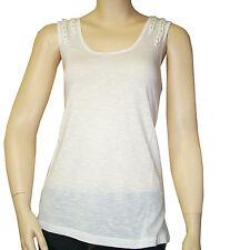 débardeur voile de coton I.CODE by IKKS femme blanc cassé Taille XL