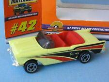 Matchbox 1957 Chevy Convertible Con Crema Cuerpo Wb Classic Usa coche
