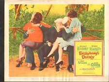 1961 MOVIE LOBBY CARD #1-547 - EVERYTHINGS DUCKY - MICKEY ROONEY - B HACKETT