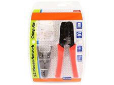 Monoprice 8140 RJ-45/RJ11 Stripping and Crimping Tool Kit w/ Modular Plugs