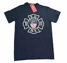 FDNY Mens Short Sleeve Screen Print T-Shirt Navy