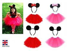 Kids MINNIE MICKEY MOUSE TUTU COSTUME Fancy Dress Halloween Ears Accessory Set