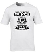Ballet Dancer Custom Men's T-Shirt World Best Job Dance Ballerina Cool Gift Name