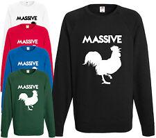 Massive Hahn Pullover Lustig Geschenk Comedy Geschenk Witz Pullover Herren Weihnachten Xmas