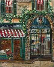 Ceramic Tile Mural Backsplash Cook Provence Cafe Village Art GCS056