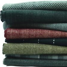 Men Women unisex 100% CASHMERE Scarf Pure Plain thick stripe Soft Wool SCOTLAND