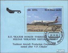 Usbekistan Block8 (kompl.Ausg.) gestempelt 1995 Flugzeuge aus Tschkalow-Werk EUR