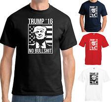 DONALD TRUMP 2016 NO BULLSHIT T-SHIRT - USA PRESIDENTIAL ELECTION FUNNY