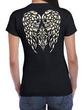 Skull Angel Wings Women's T-Shirt - Goth Emo Tattoo Skeleton