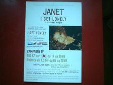 "JANET JACKSON - PLAN MEDIA / PRESS KIT ""I GET LONELY"""