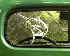 2 SWORDFISH DECAL Sport Fishing Stickers For Car Window Truck Bumper Laptop RV